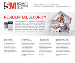 residential security brochure